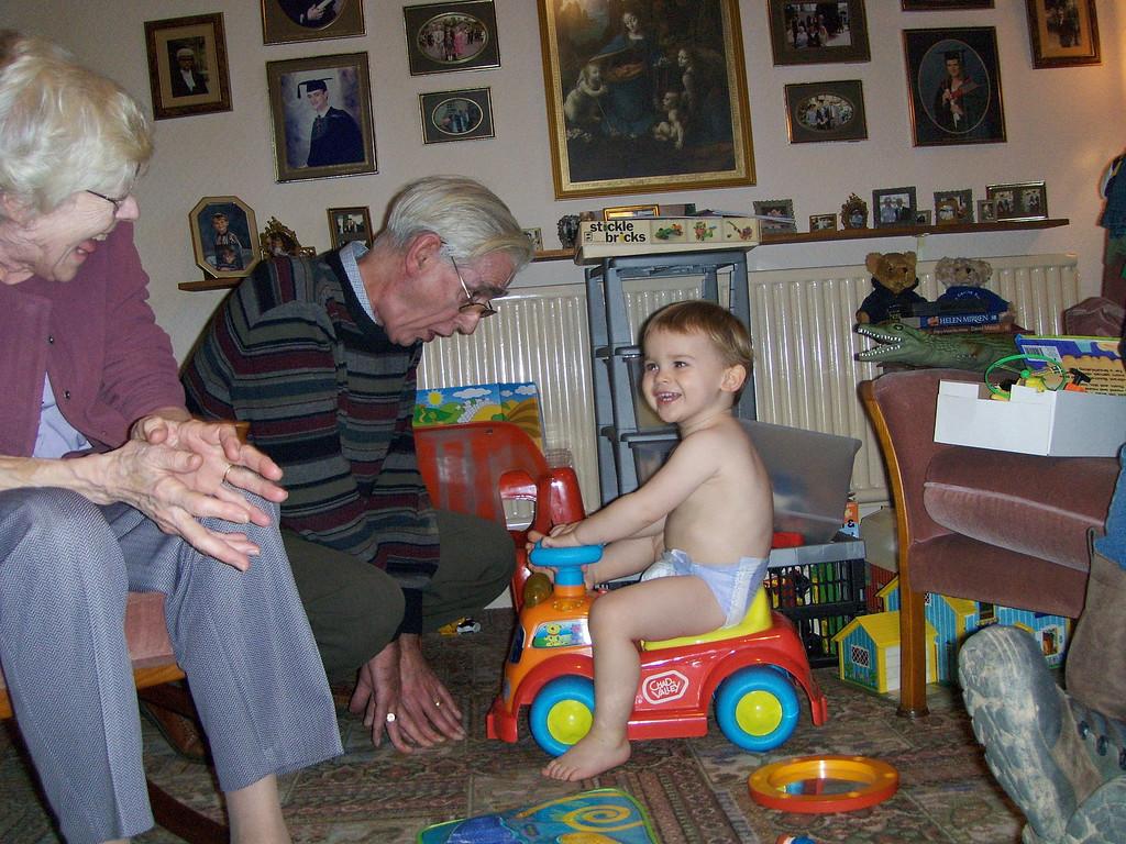 Loving Grandpa's singing