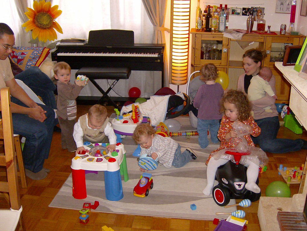 Not sure our house is really big enough for the kind of parties we need these days!! Absolute chaos on one side of the lounge. Cullen is just out of shot with Rhonda on the left and Sam with Amanda on the right.