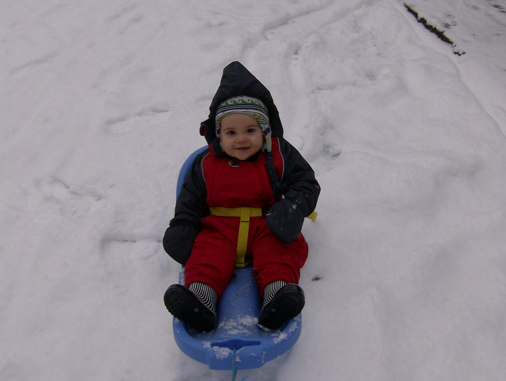Jack & Mike made the most of the snow and went for a nice, long sledge ride on Saturday morning which also involved Jack's first ever face plant!