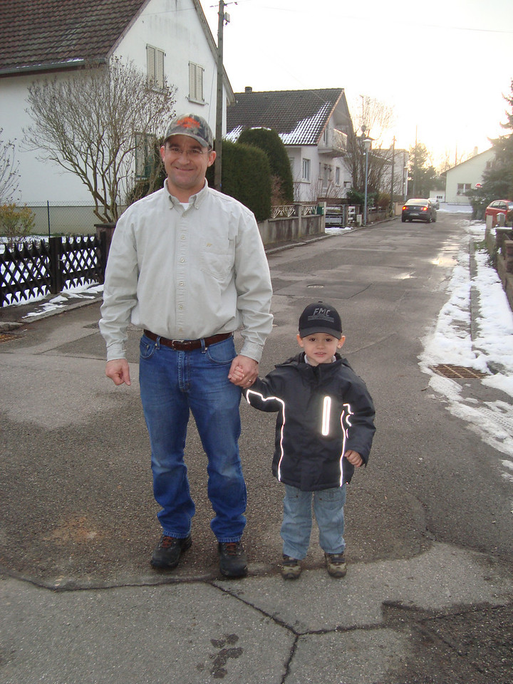 Daddy & Jack both sporting their cool Fricke Management caps