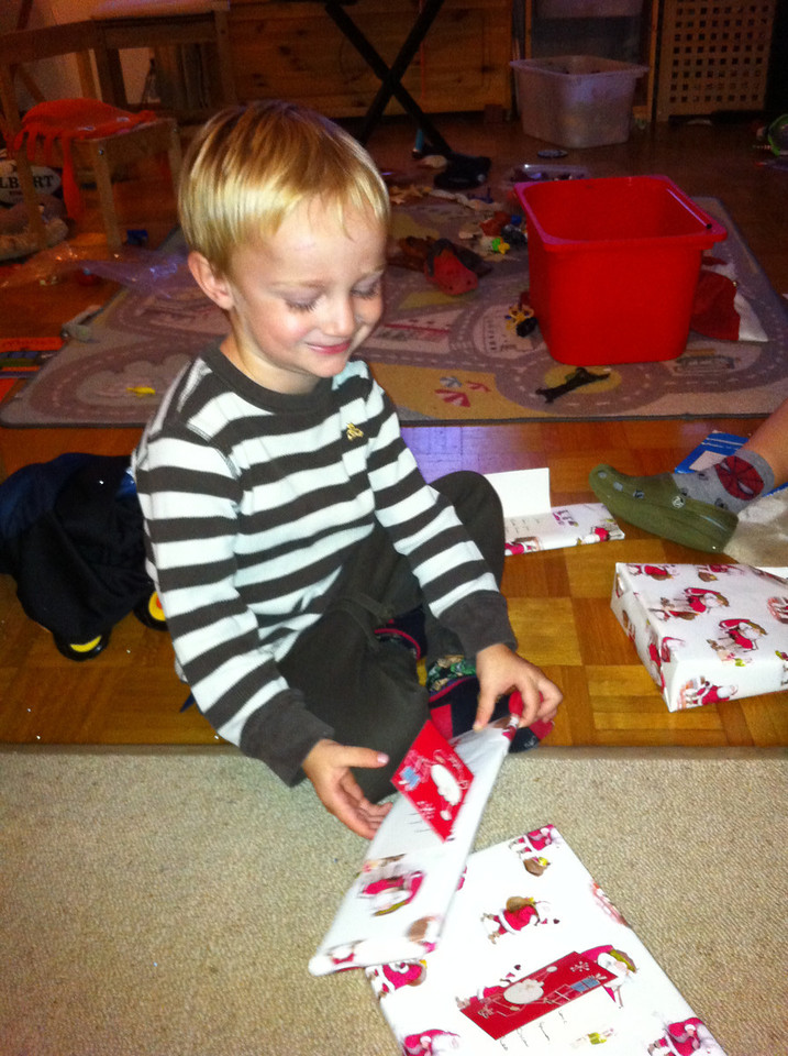 A parcel for the boys arrived from Ginny B & Uncle Simes! Much excitement!
