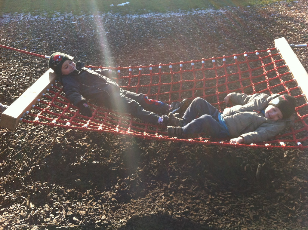 Checking-out the new giant hammock