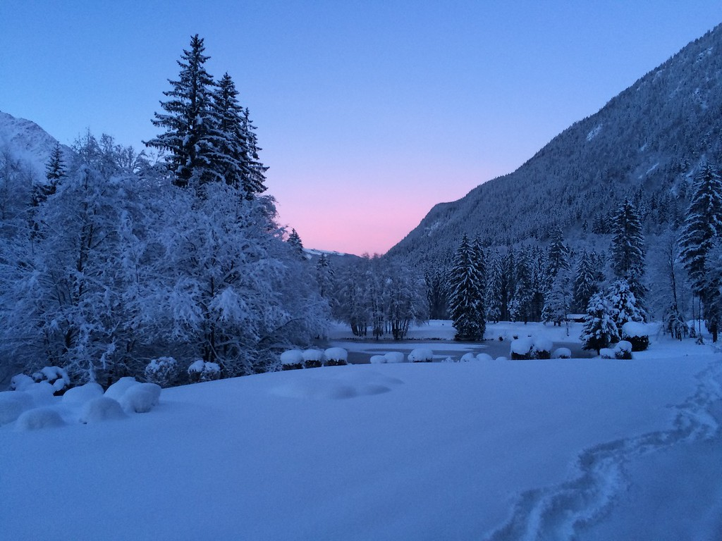 We drove to Chamonix in a snow-storm and it took HOURS but it was worth it for this beautiful morning!
