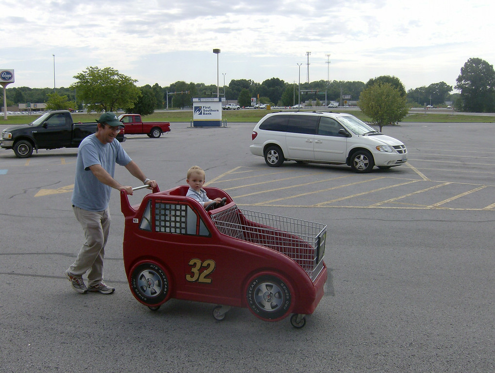 Jack would have let us shop for hours sat in this car shopping cart. Steering wheels & cars are his favourite toys at the moment.