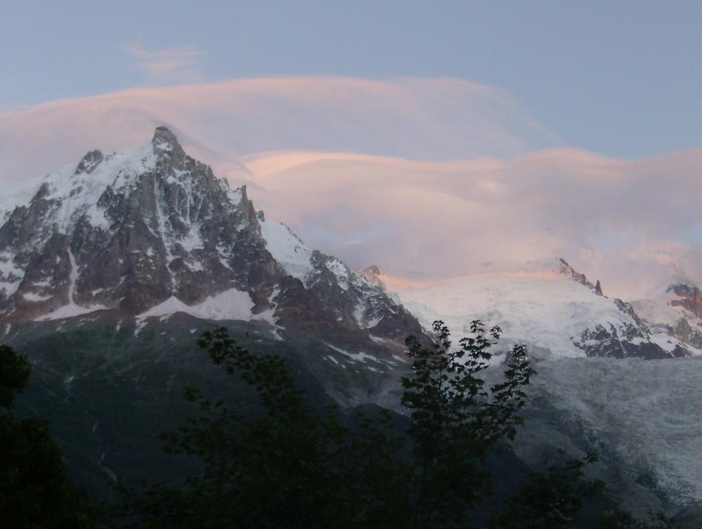016 Sunset in Chamonix