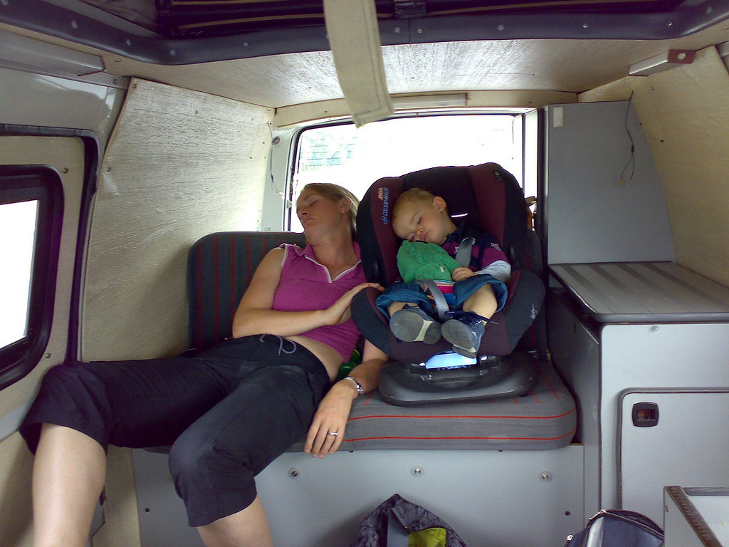 Jack & I were a little tired at the end of a weekend in Chamonix