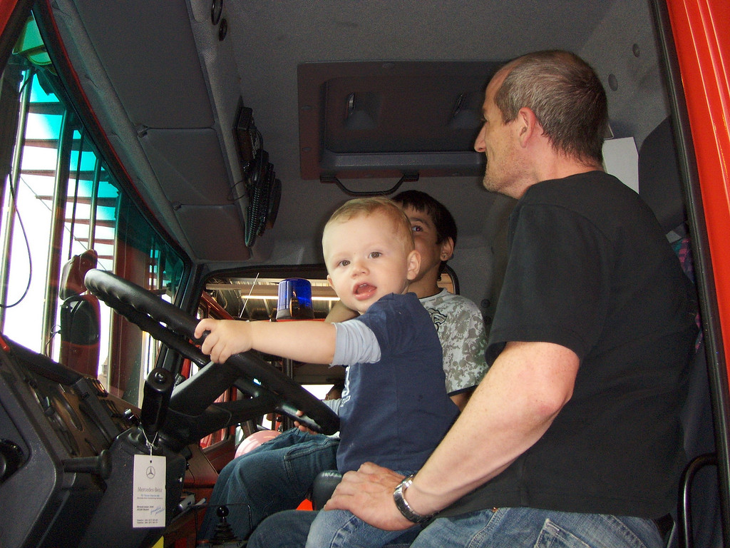 029 Gabriel Driving the Fire Engine