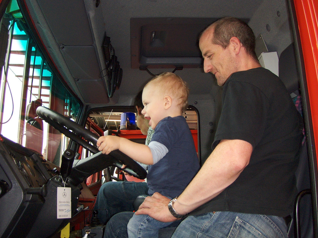 030 Gabriel Driving the Fire Engine