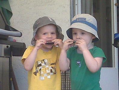 A harmonica duet ...