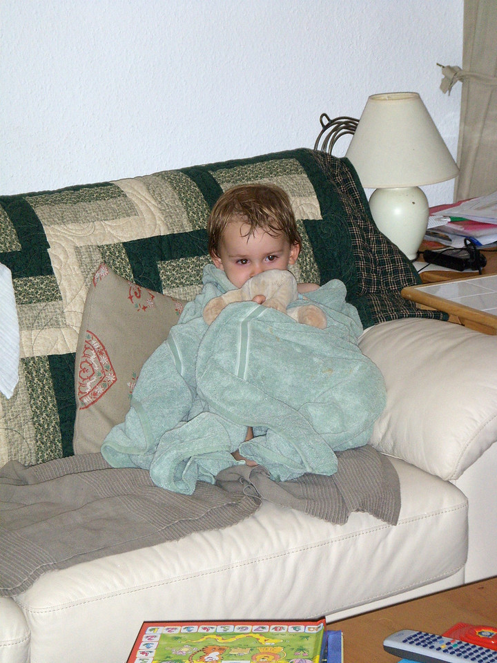A big dry towel, Horace & Jungle Book on TV and all is well with the world!