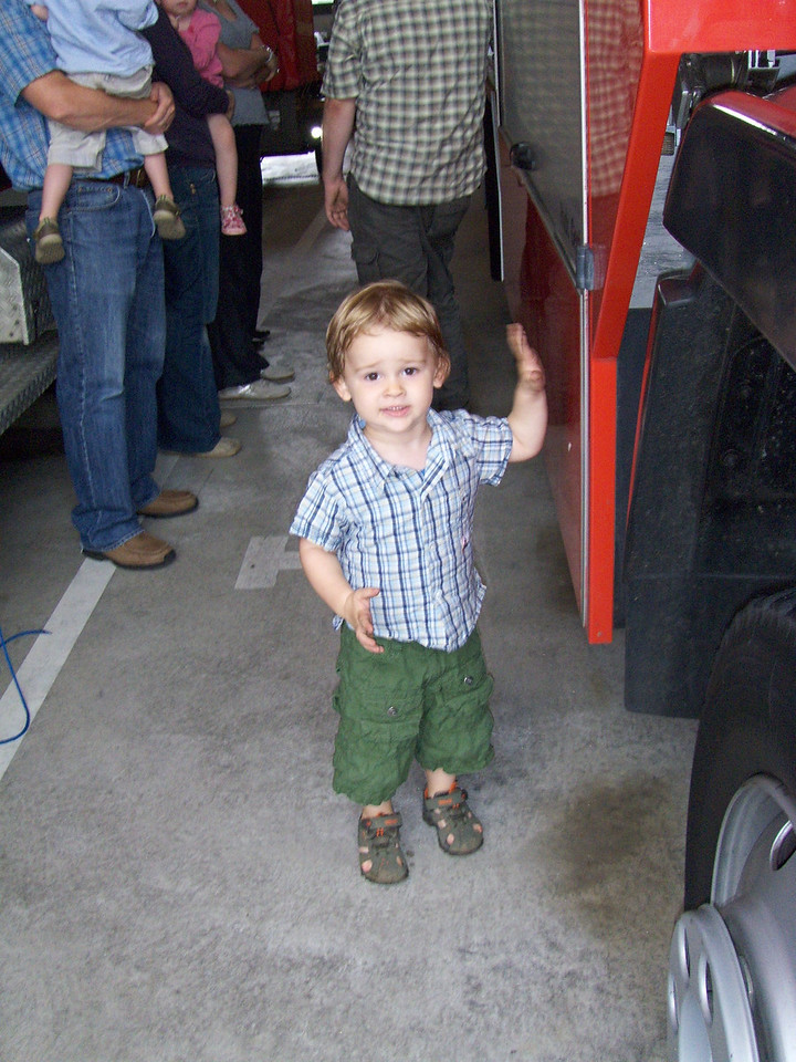 Jack was VERY excited about the fire engines