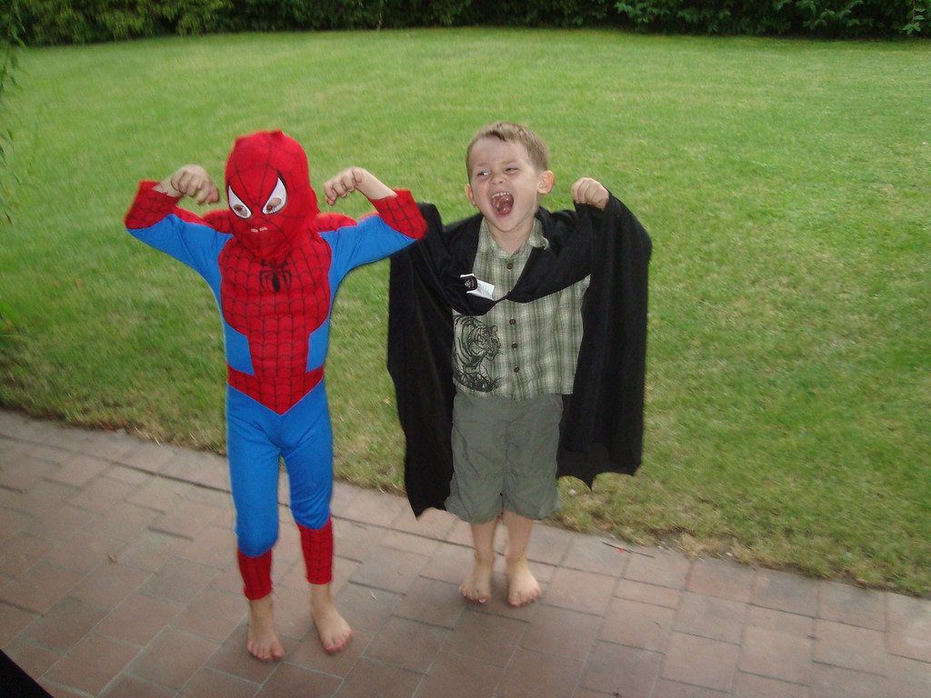 "Findlay & Jack ran round like this for a while: Jack insisted on calling Findlay ""Spiderman"" for the rest of the weekend"