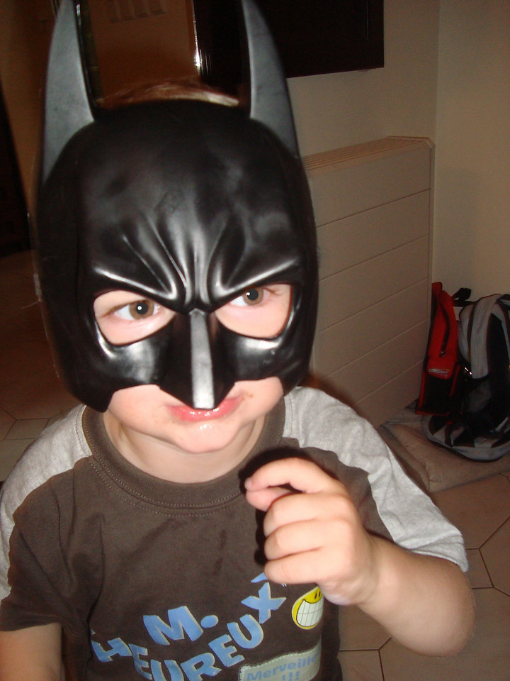 This batman costume was THE hit toy of the weekend: both the McNamara boys were obsessed with it