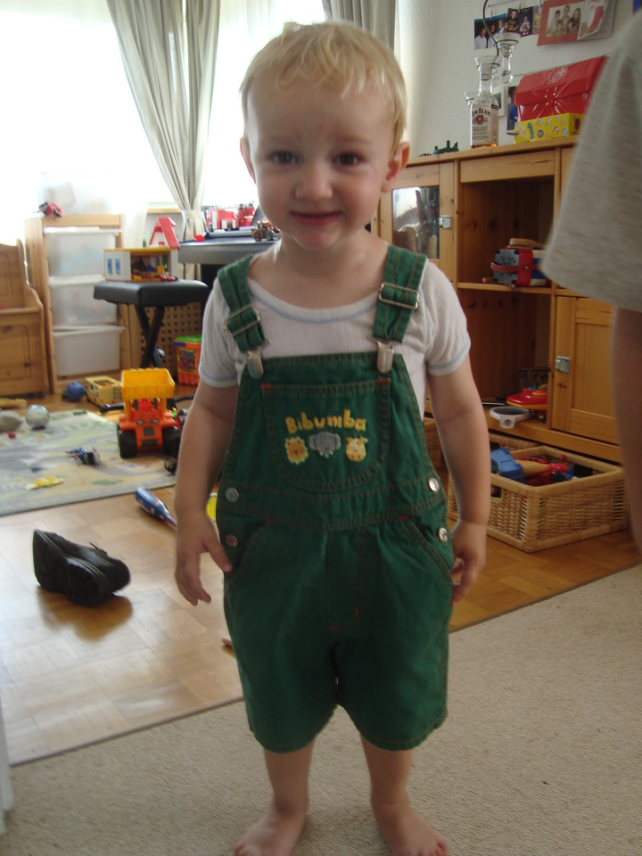 I LOVE these dungarees - they used to belong to Emilien