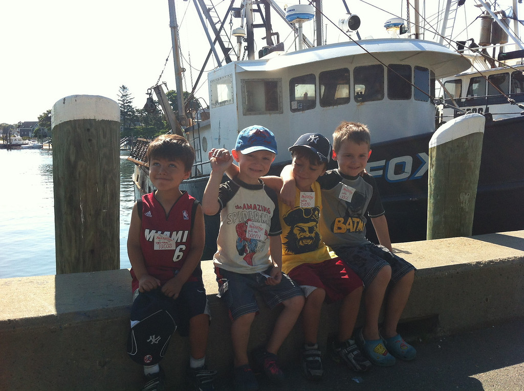 ... and headed straight out to the Cape to take a pirate boat ride with Diego & Lucas! What a good-looking bunch of sweet boys