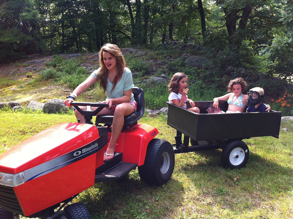 Annie taking the little ones for a ride