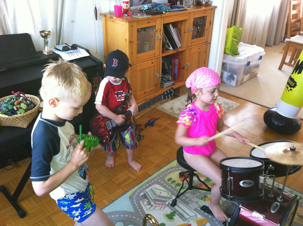 The kids had a blast with the instruments