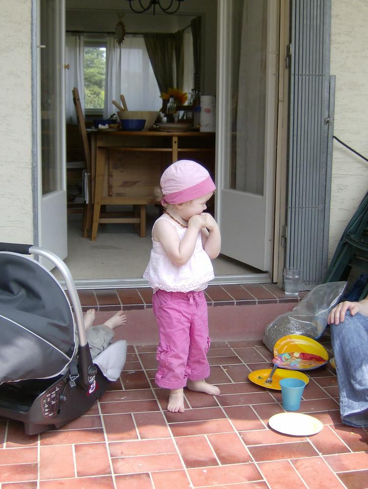 Sophia looking pretty in pink.