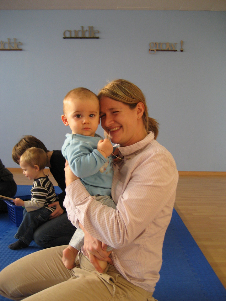 This is an old picture of me & Jack at Kindermusik last December. I can't believe how small he is! Karen just sent it to us to make a print-out for the photo frame Anna gave Jack for his birthday.