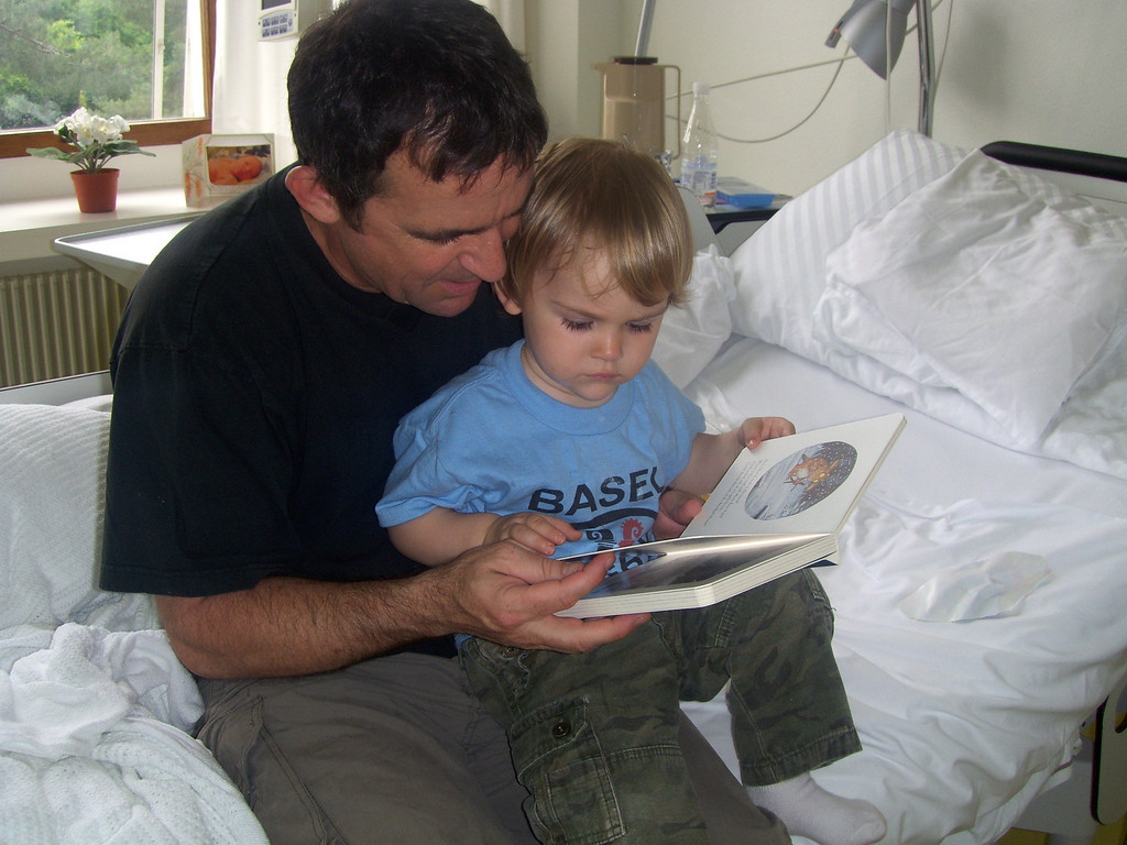 Reading his new book with Daddy