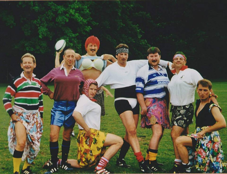 And this one from 1999: our opposition dropped out for a match and so the guys put together an Eastern European Ladies selection to play against us. Sadly Martin (far left) and Carlos (second from right) are no longer with us