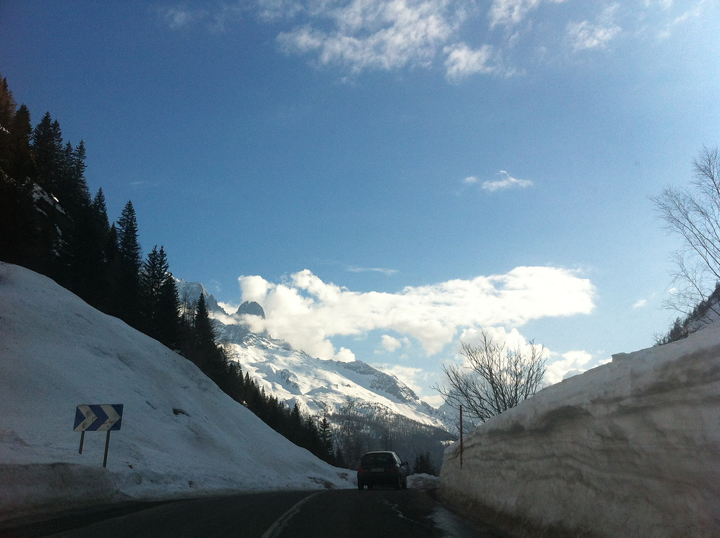 Driving over the Col des Montets