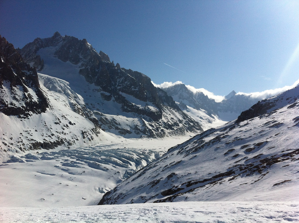 Spectacular view of the glacier