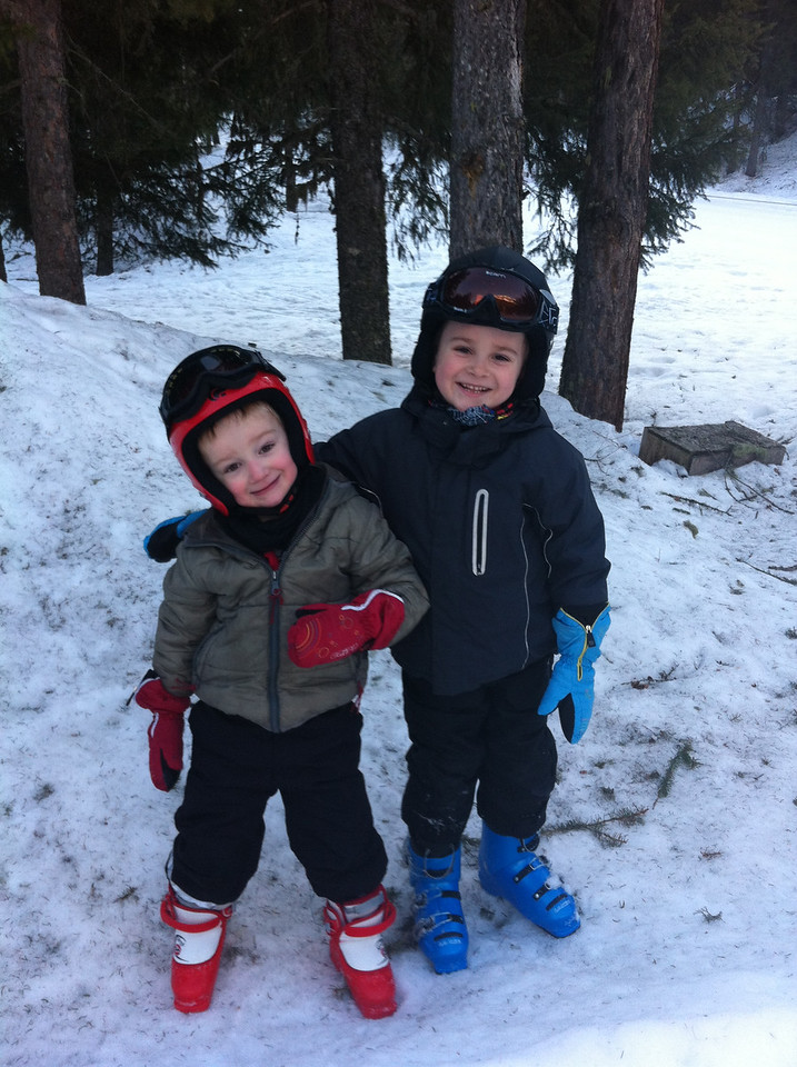 Ready for ski school: how cute are they?