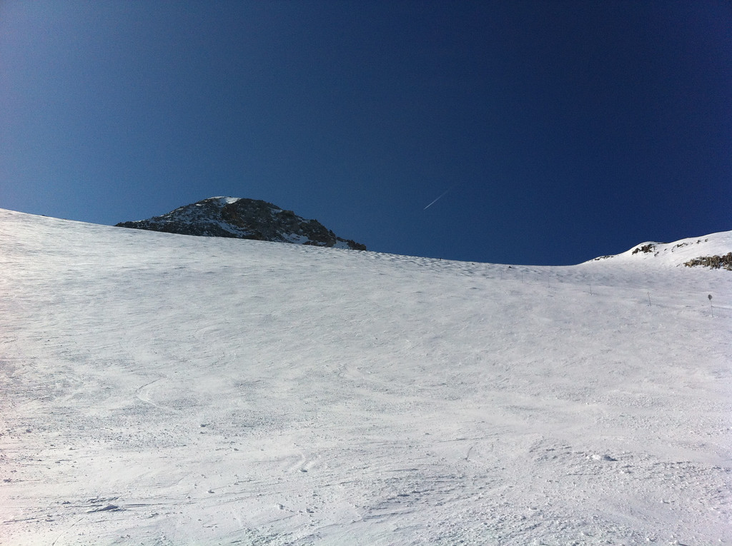Looking back up at 'The Wall' - conditions were perfect