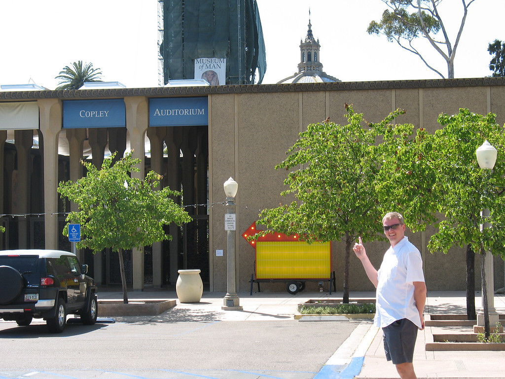 Callum was quite pleased to find Copley Auditorium in San Diego!