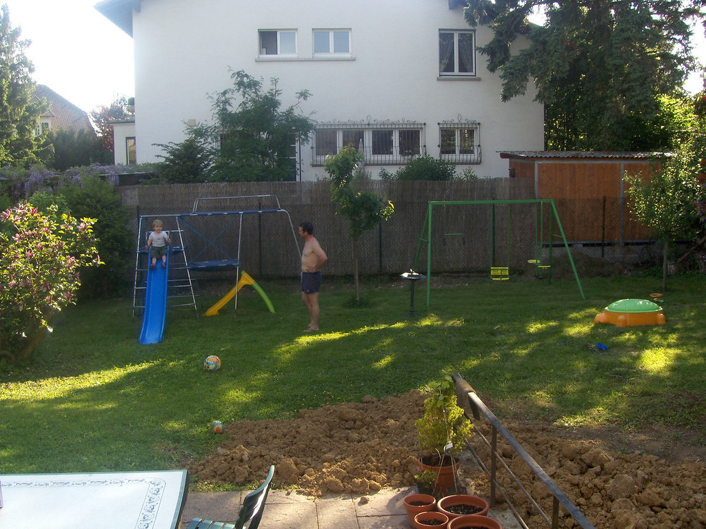 Our back garden has turned into a playground!