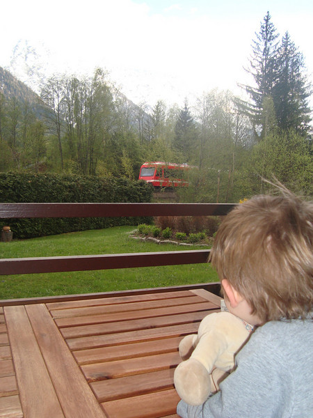 Every 30 minutes a train comes past our apartment in Chamonix. It is absolutely joyous for Jack each and every time