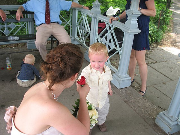 A few photos we stole from other wedding guests that aren't in our original gallery: this is Danny giving Karen a rose!