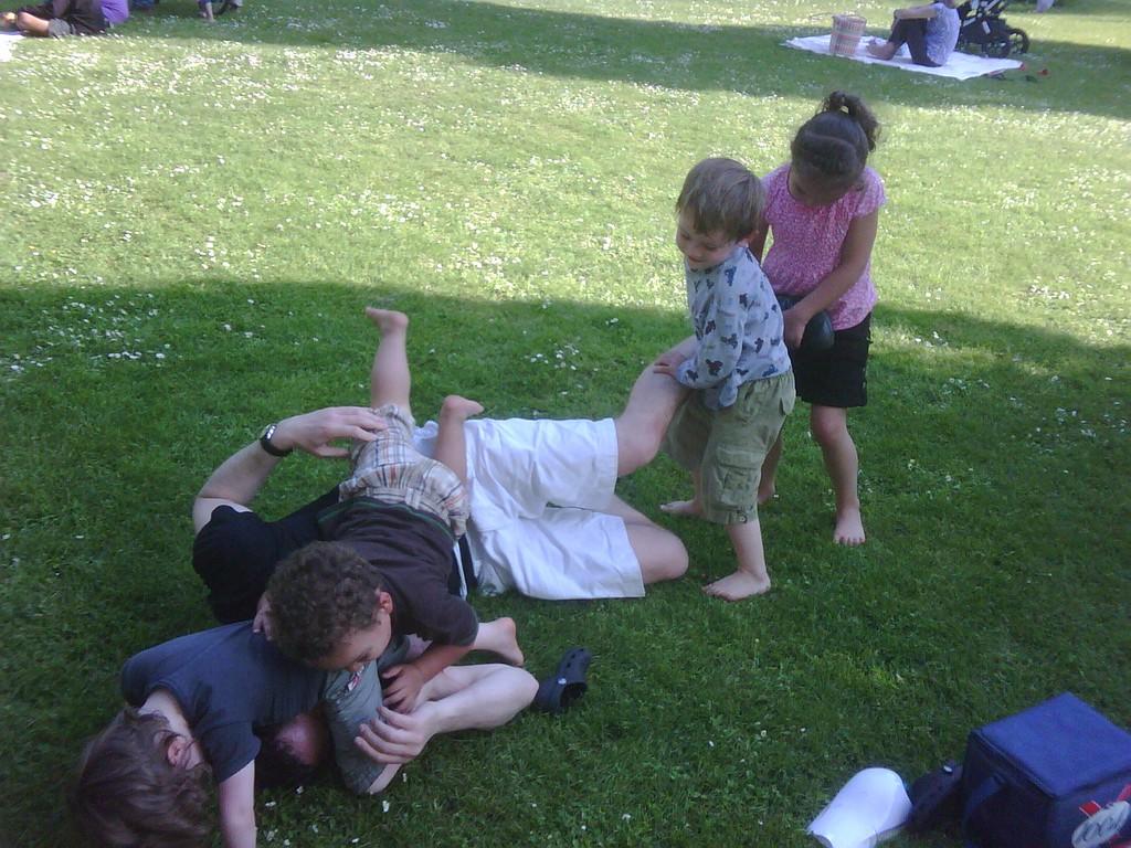 The kids mauling Rowan