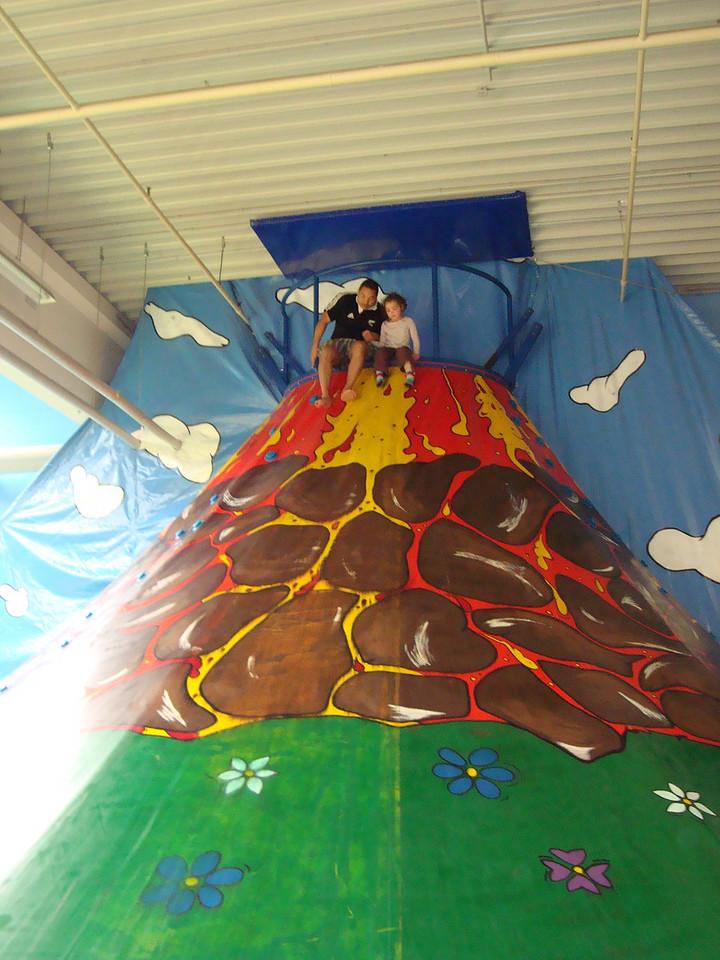 Marcel & Kaili on the volcano slide