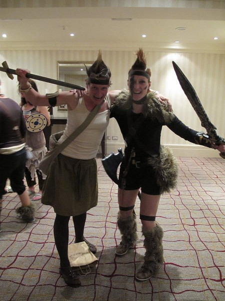 We dressed as Barbarians for the first night party
