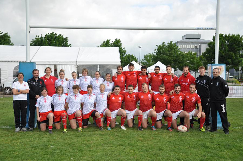 Ladies & mens Swiss teams at the Stanislas 7's in Nancy