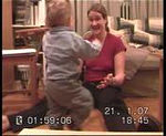 We managed to capture Jack's very first steps on film a few days before his 1st birthday. He was SO pleased with himself!