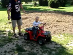 Jack commandeered this quad bike from a kid in Kannenfeldpark and managed to find the accelerator which was a surprise to all of us! Ronnie managed to get it on film whilst saving Cullen!