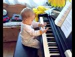 Our budding Mozart ;-)
