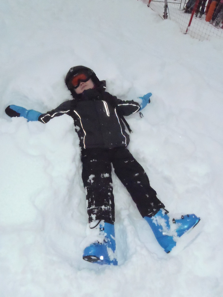 Jack making a snow angel