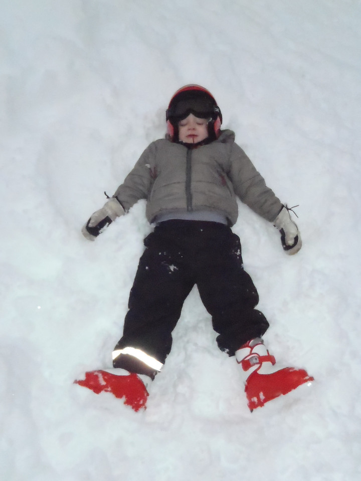 Danny making a snow angel