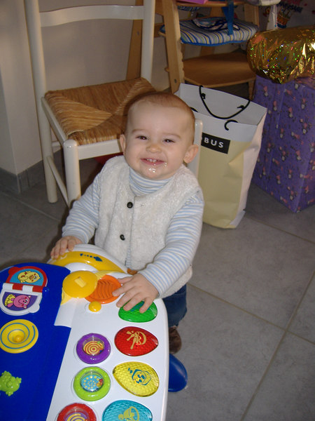 Jack was pretty pleased with some of Ciara's new toys!