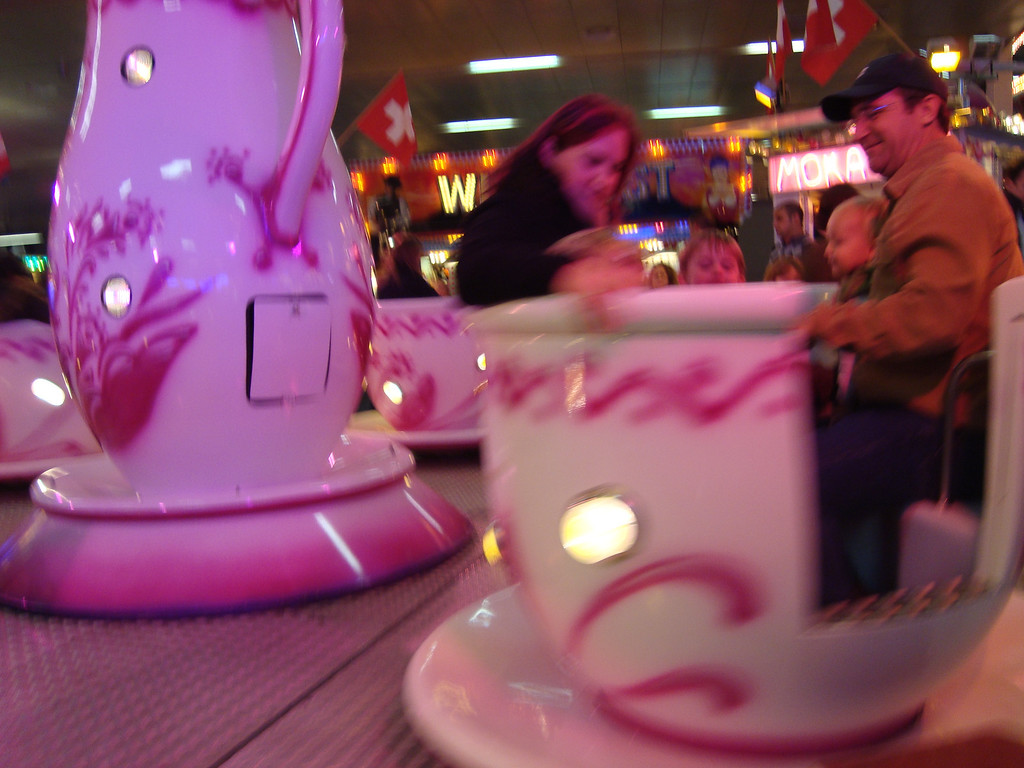 Mike took Jack & Danny on the teacups