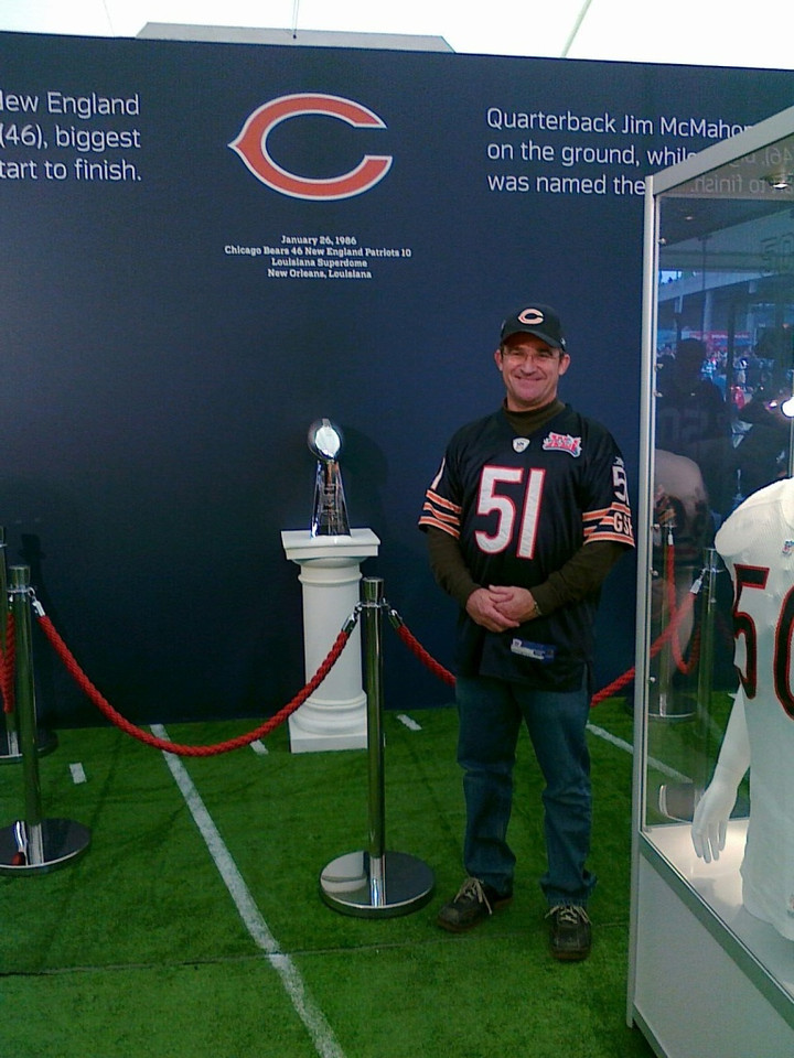 Mike went to the NFL game in Wembley!