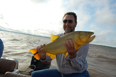 Bill's Dorado - 17 pounds!  Caught on the Parana River in Argentina.
