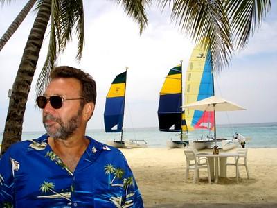 Bill on the beach in Jamaica.