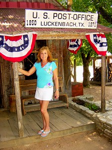 """""""Let's go to Luckenbach, Texas with Waylon, and Willie and the boys.............""""  At the famous Luckenbach on one of our trips."""