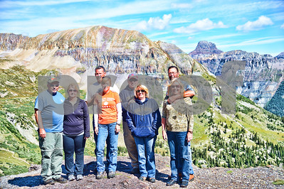 """August, 2013  """"On top of the World""""  Bill and I with friends on top of a mountain in Colorado.  We were at approximately 13,000 + feet.  This was a stopping place on one of our 4-wheeling rides near Ouray, CO.  Gorgeous country!"""