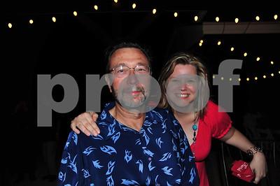 Bill and Chenoa at Misty's wedding.